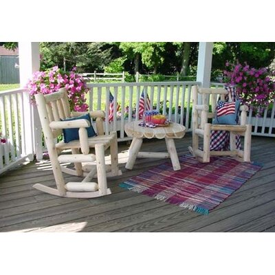 Rustic Natural Cedar Furniture Porch Indoor / Outdoor Rocking Chair