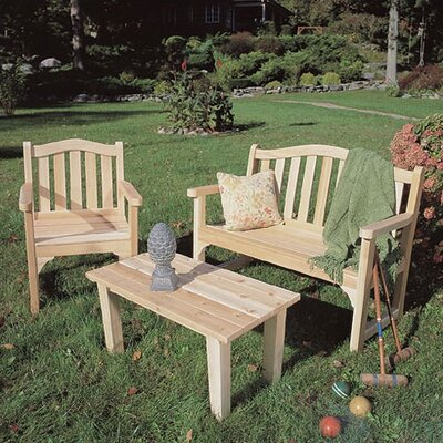Rustic Natural Cedar Furniture English Lounge Seating Group