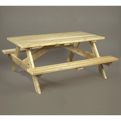 Rustic Natural Cedar Furniture Picnic Table