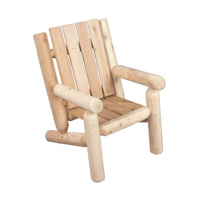Rustic Natural Cedar Furniture Junior Adirondack  Log Chair