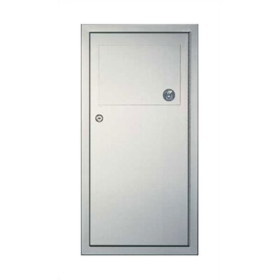American Specialties Traditional 3 gal. Recessed Waste Receptacle with Self-Closing Panel