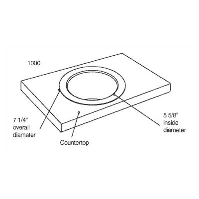 American Specialties Traditional Circular Countertop Waste Chute