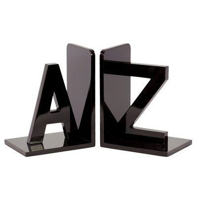 <strong>Urban Trends</strong> Wooden AZ Book Ends (Set of 2)