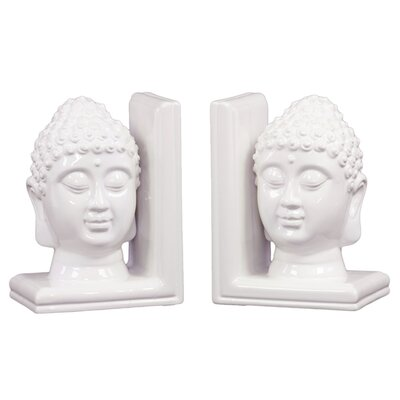 Urban Trends Ceramic Buddha Head Bookend