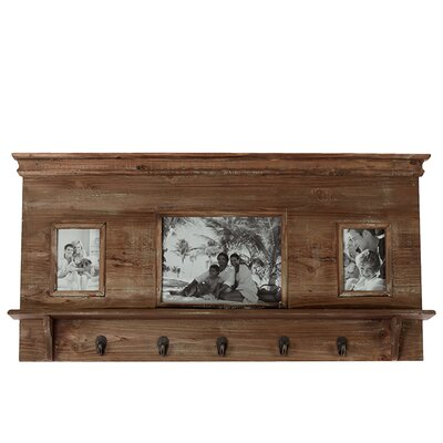 Urban Trends Wooden Picture Frame with Hooks