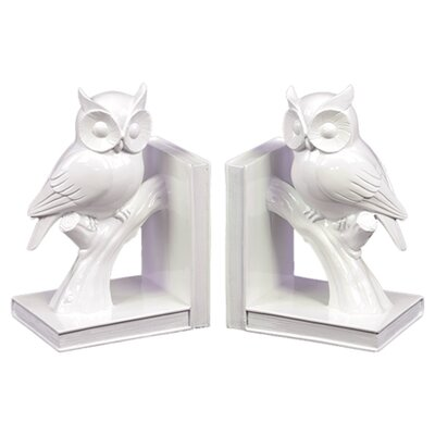 Urban Trends Ceramic Owl Bookend