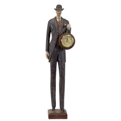 Urban Trends Resin Man with Clock