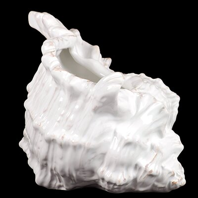 Ceramic Seashell Statue