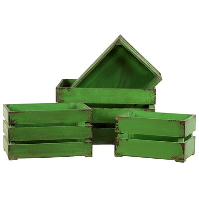 Urban Trends Wooden Storage Boxes (Set of 4)