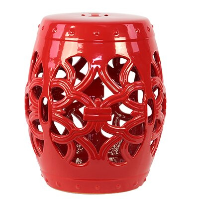 Urban Trends Ceramic Garden Stool Open Work