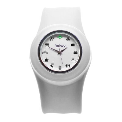 Winky Designs Iconic Travel Slap Watch (White)