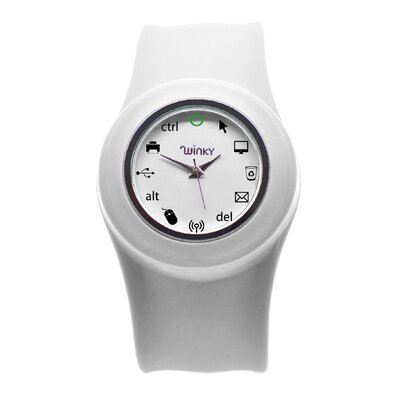 Winky Designs Ionic Computer Slap Watch (White)
