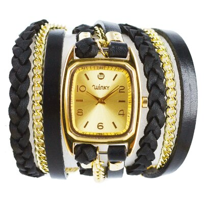 Winky Designs Sweet Dreams Women's Blackberry Galette Wrap Watch