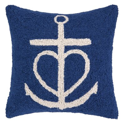 Nautical Hook Anchor Heart Pillow