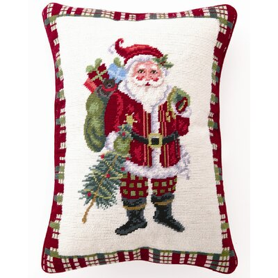 Christmas at North Pole Santa Wool / Cotton Pillow