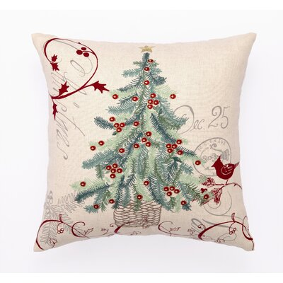 Peking Handicraft Christmas Tree Embroidery Pillow & Reviews Wayfair