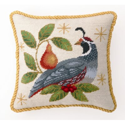 Winter Partridge Decorative Wool / Cotton Pillow