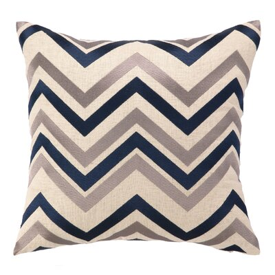 Peking Handicraft Chevron Embroidered Decorative Pillow