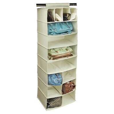 Richards Homewares Canvas 14 Pocket Handbag Organizer