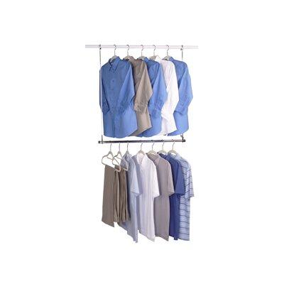 Whitmor Inc Double Hang Closet Rod Amp Reviews Wayfair