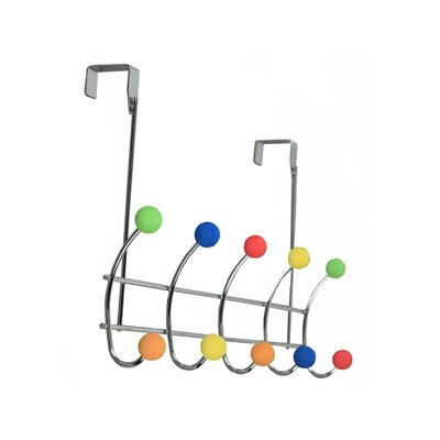 Richards Homewares Juvenile Over the Door Foam 5 Hook Rack
