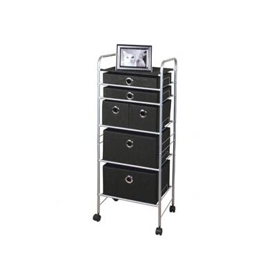 Richards Homewares Free Standing Storage Polypropylene 6 Drawer Eyelet Cart