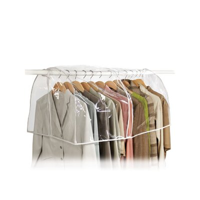 Richards Homewares Clear Vinyl Storage Closet Garment Cover