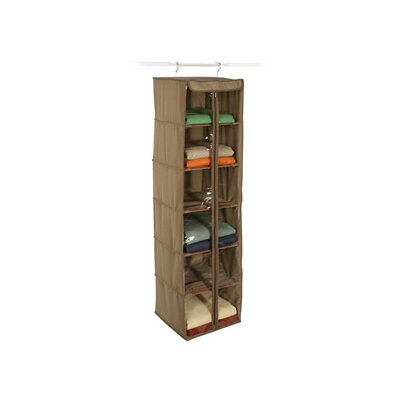 Richards Homewares Cedar Inserts Canvas 6 Shelf Hanging Organizer
