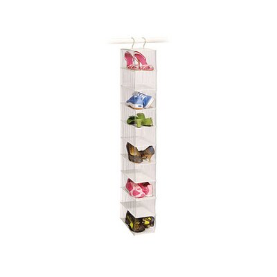 Richards Homewares Clear Vinyl Storage 10 Compartment Shoe Organizer
