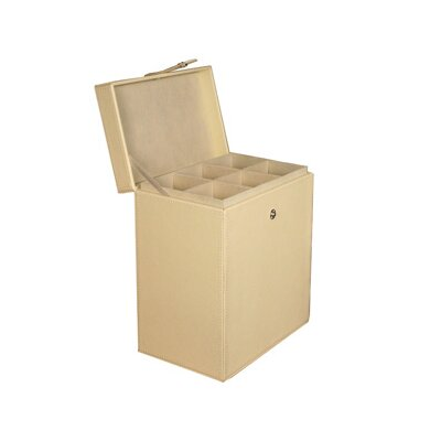 Richards Homewares Tabletop Storage Faux Leather Champagne Flute Chest