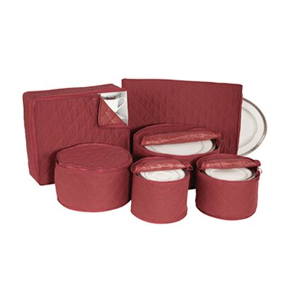 Richards Homewares 6 Piece Tabletop Cotton Dinnerware Storage Set