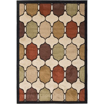 Orian Rugs Inc. Four Seasons Hourglass Jet Black Rug