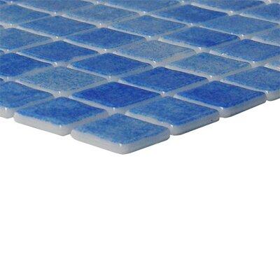 """Onix USA Nieve 1"""" x 1"""" Glass Mosaic in Azul Cielo"""