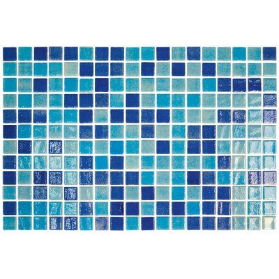 "Onix USA Colour Blend 1"" x 1"" Glass Mosaic in Piscis"