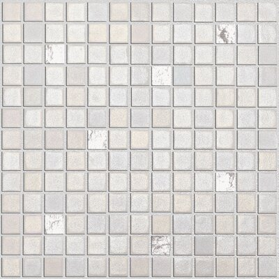"Onix USA Fuse Glass FU013 1"" x 1"" Glass Mosaic in White"