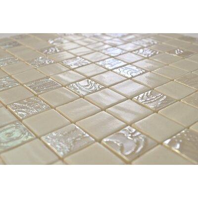 "Onix USA Nature Blend 1"" x 1"" Glass Mosaic in Upsala Beige"