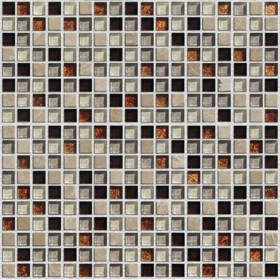 "Onix USA Crystone CS008 3/5"" x 3/5"" Stone and Glass Mosaic"