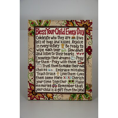Bless Your Child Canvas Art