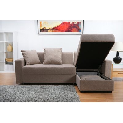 Leader Lifestyle Casa Platform 3 Seater Convertible Chaise Sofa Bed & Reviews