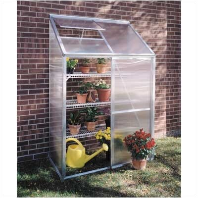 "Juliana Greenhouses Mini Polycarbonate 6' 5"" H x 4'3"" W x 2'2"" D Lean-To Greenhouse"