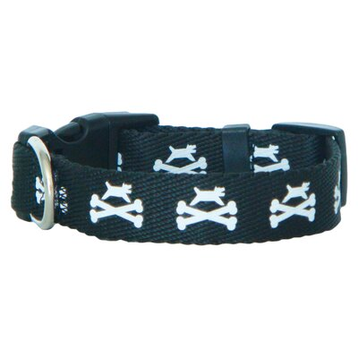Dog and Crossbones Adjustable Dog Collar