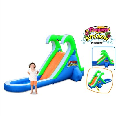 Blast Zone Tropical Splash Water Slide