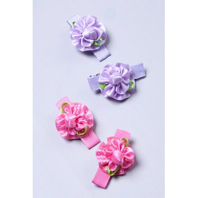 Heart to Heart Mini Baby Flower Hair Clip (Set of 4)