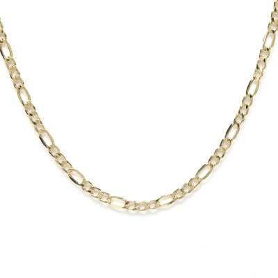 <strong>Precious Stars</strong> 14kt Yellow Gold 3.5mm Figaro Chain