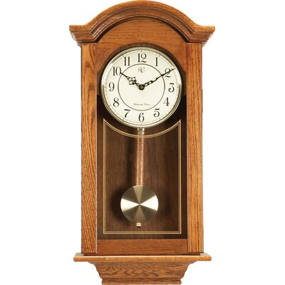 River City Clocks Regulator Wall Clock in Oak