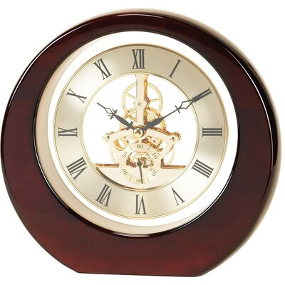 Round Skeleton Gear Clock with Brass Dial