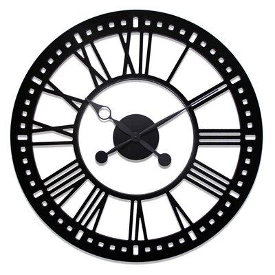 Indoor Skeleton Tower Wall Clock with No Background