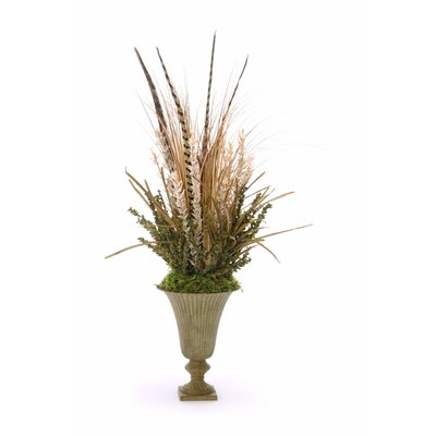 Distinctive Designs Silk Arrangement in Metal Urn