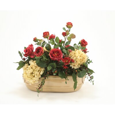 Distinctive Designs Silk Arrangement in Tan Head Oval Planter