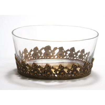Cutwork Dish with an Oval Glass Bowl